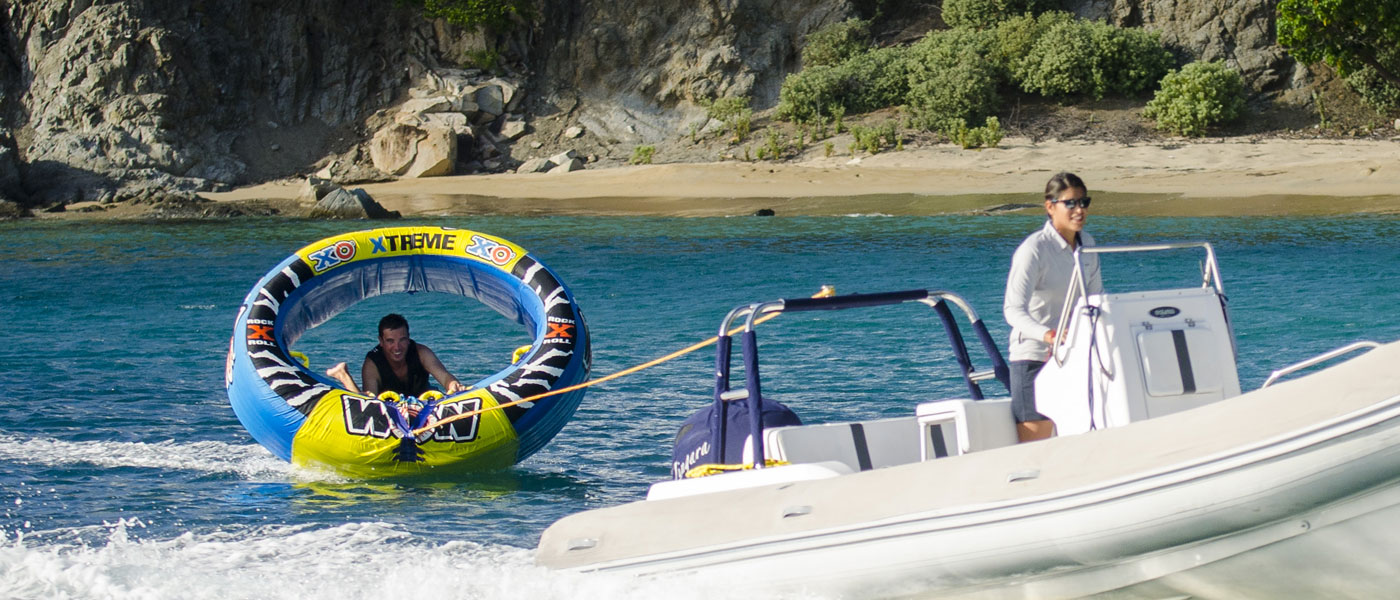 Tubing is a blast with Zingara Yacht